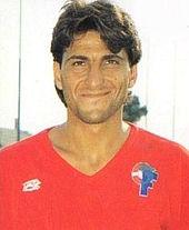 Giuseppe Donatelli con la maglia del Taranto nel 1988