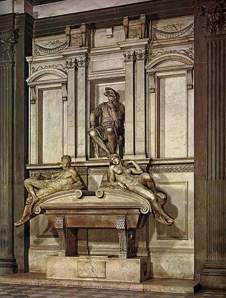 File:Michelangelo, tomba di lorenzo, duca d'urbino.jpg