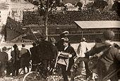 Tifosi sul Monte dei Cocci al Campo Testaccio