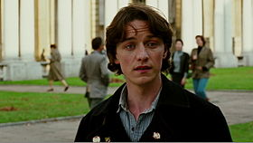 James McAvoy in una scena del film.