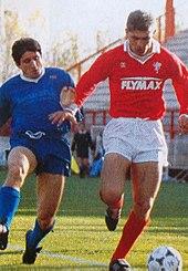 Ravanelli in azione agli esordi con la maglia del Perugia, nel 1987-1988.