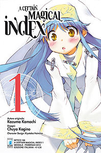 Cover italiana del primo volume del manga mostrante Index