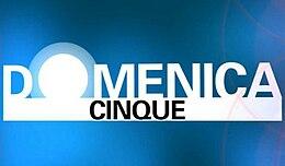 Logo di Domenica Cinque durante la conduzione di Claudio Brachino e Federica Panicucci nel 2011.