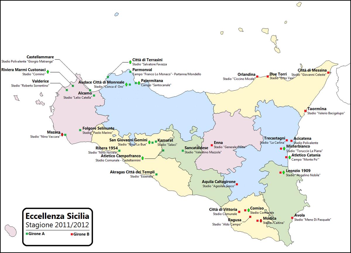 Cartina Sicilia Mondello.Eccellenza Sicilia 2011 2012 Wikipedia