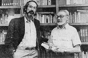 Torino, 1986. Primo Levi (a destra) con Philip Roth.