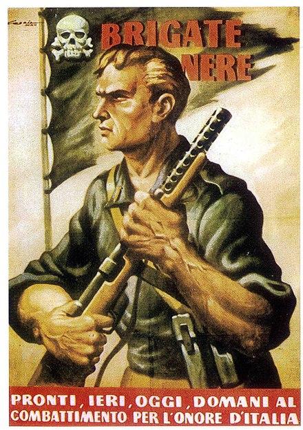 Manifesto di propaganda del 1944 per l arruolamento nelle Brigate Nere 2b867a68b607