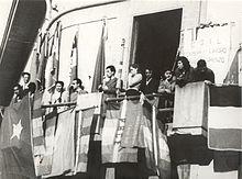 Enrico Berlinguer durante un comizio a Borgo San Lorenzo nel 1952
