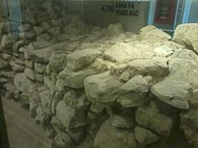 Muro dell'età del bronzo conservato all'interno della stazione