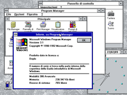 Schermata di Windows 3.1