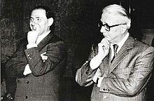 Berlusconi e Biagi nel 1986