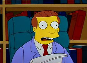 Lionel Hutz nell'episodio Marge in catene