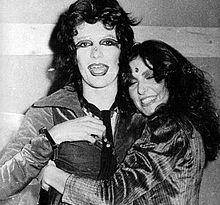 Renato Zero e Loredana Bertè alla fine degli anni settanta