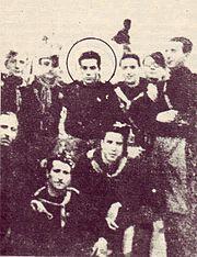 Renato Guttuso ai Littoriali di Palermo in divisa del GUF