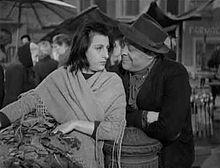 Aldo Fabrizi con Anna Magnani nel film Campo de' fiori (1943)