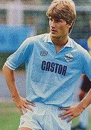 Laudrup alla Lazio nella stagione 1984-1985