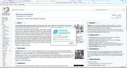 Interfaccia desktop di Internet Explorer 11 su Windows 7