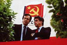Walter Veltroni assieme ad Achille Occhetto negli ultimi anni del PCI