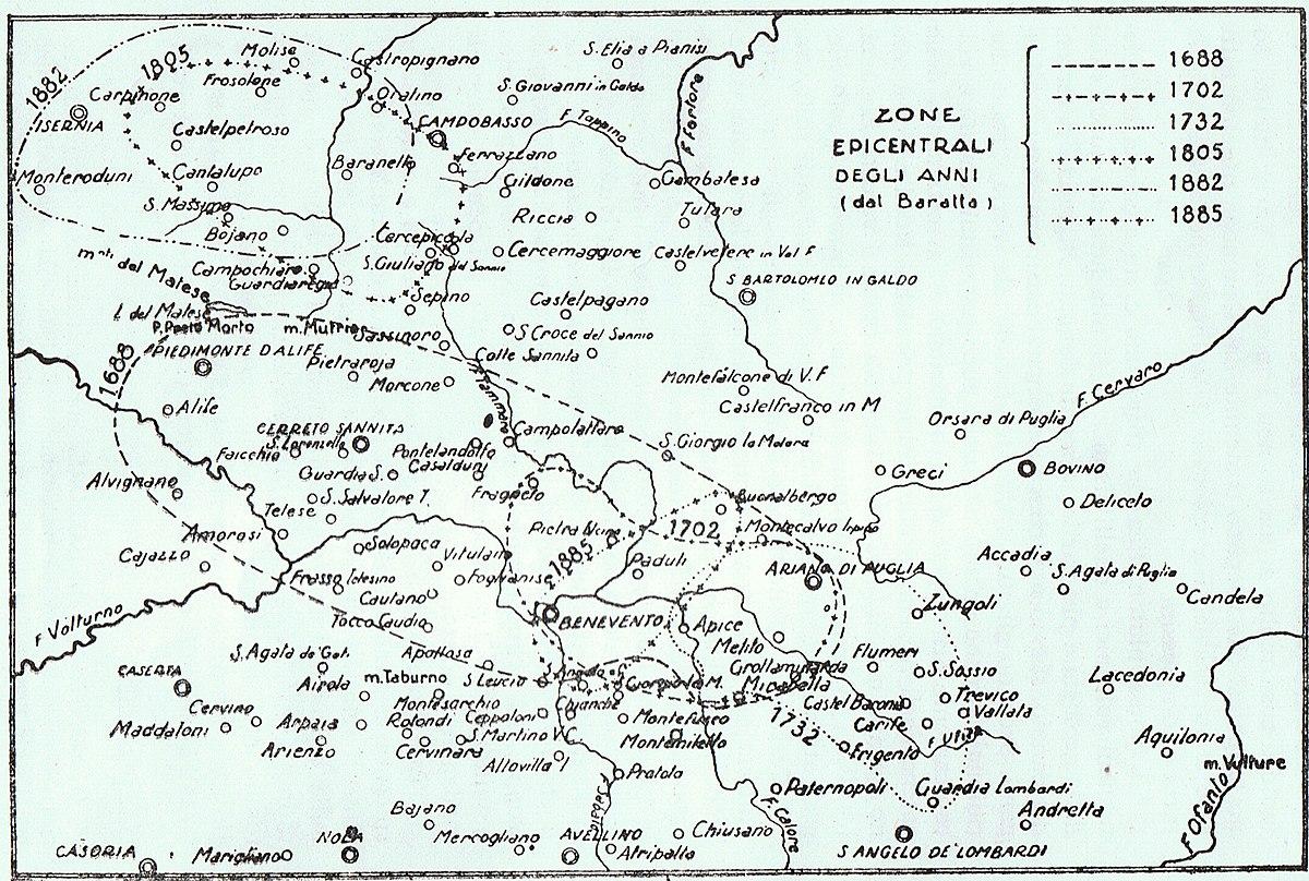 Cartina Sismica Italia Wikipedia.Terremoto Del Sannio Del 1688 Wikipedia