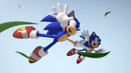 Modern e Classic Sonic in Generations.png
