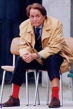 Rozzi con i suoi celebri calzini rossi.