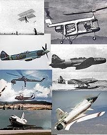 La storia dell'aviazione attraverso alcuni mezzi o momenti storici.