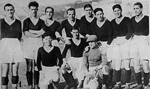 Una formazione della Reggiana nel 1928, in Divisione Nazionale.
