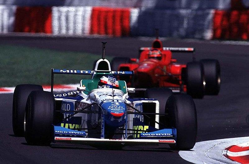 File:GP d'Italia 1996 - Jean Alesi (Benetton) e Michael Schumacher (Ferrari).jpg