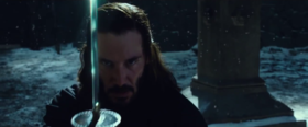 Keanu Reeves in una scena del film