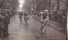 La vittoria di Sante Gaiardoni alla Milano-Busseto del 1959.