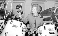 Margaret Thatcher negli Studios di Abbey Road.