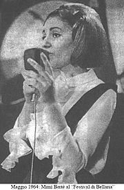 Mimì Bertè al Festival di Bellaria del 1964