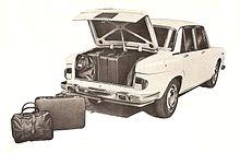 Il capiente bagagliaio della Lancia Flavia berlina I serie