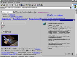 Screenshot di Internet Explorer 2 su Windows 95