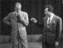Raimondo Vianello con Ugo Tognazzi.