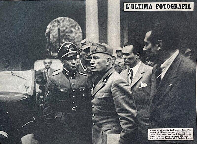Benito Mussolini a Milano il 25 aprile 1945