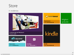 Schermata principale di Windows Store