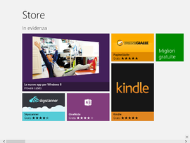 Screenshot di Windows Store