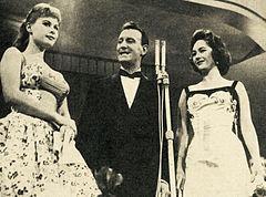 Marisa Allasio, Nunzio Filogamo e Fiorella Mari Festival di Sanremo 1957