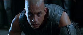 Vin Diesel interpreta Riddick in The Chronicles of Riddick
