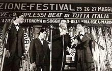 Corrado con il Trio Junior al Festival di Bellaria nel 1967.