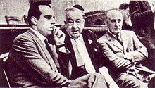 Piccioni, Polito e Montagna durante il Processo Wilma Montesi.