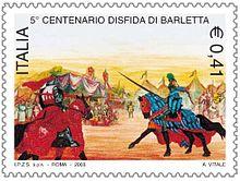 Francobollo emesso nel 2003 in occasione del V centenario della disfida.