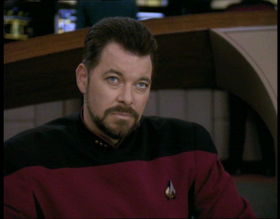 "William Riker nell'episodio ""Universi paralleli"""