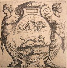 Impresa (motto) del cavaliere inglese Arrigo Lee - XVI secolo.