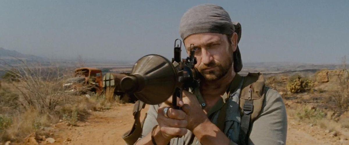 preacher with a machine gun