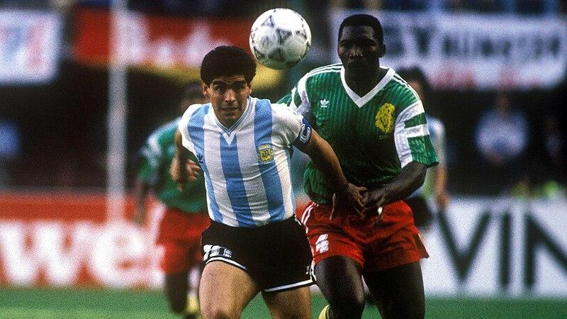 Italia 90 - Diego Maradona e Benjamin Massing