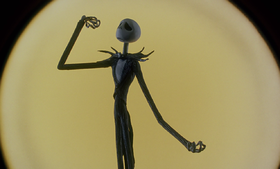 Jack Skeletron in una scena di Nightmare Before Christmas