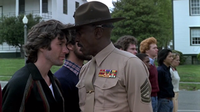 Richard Gere e Louis Gossett Jr. in una scena del film