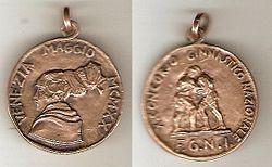 Medaglia di bronzo al X° Concorso Ginnastico Nazionale (F.G.N.I.)