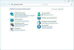 Il Pannello di controllo in Windows 7